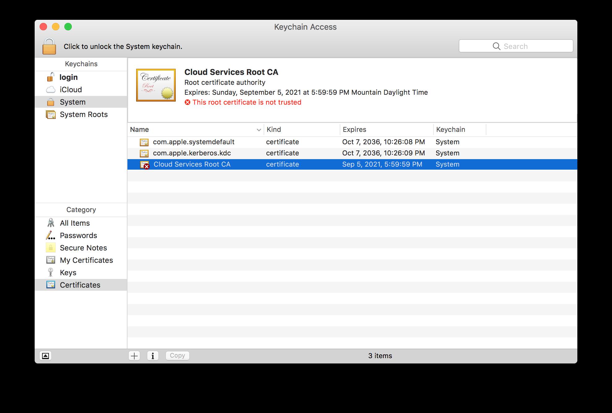 Certificate errors when using Unified Agent-Mac – CloudVeil